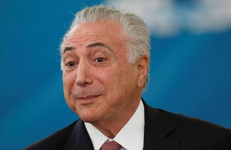 Temer durante evento no Palácio do Planalto