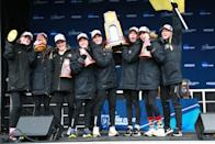 Best sport: women's cross country (national champion). Trajectory: down. The Buffaloes dropped 13 places year-over-year, despite winning the school's first national title since 2015. Colorado is good at the altitude sports — skiing and distance running — with an up-and-coming women's lacrosse program. Beyond that, not much happening.