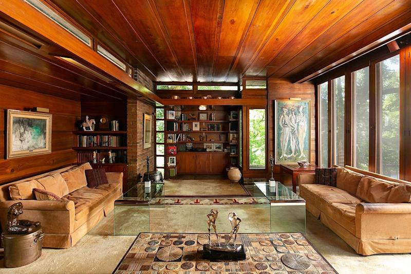 This Gorgeous 1940s House Designed by Frank Lloyd Wright Is Going Up for Auction