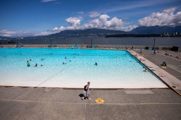 Kitsilano pool is one of three outdoor pools in the city opening May 22, 2021. (Ben Nelms/CBC - image credit)