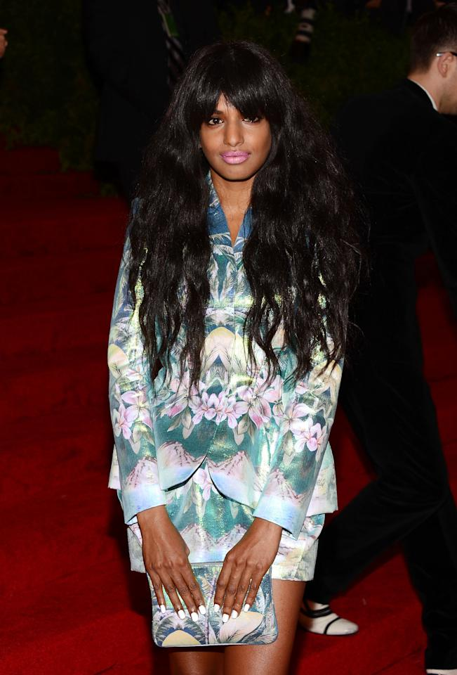 "NEW YORK, NY - MAY 07:  M.I.A. attends the ""Schiaparelli And Prada: Impossible Conversations"" Costume Institute Gala at the Metropolitan Museum of Art on May 7, 2012 in New York City.  (Photo by Dimitrios Kambouris/Getty Images)"