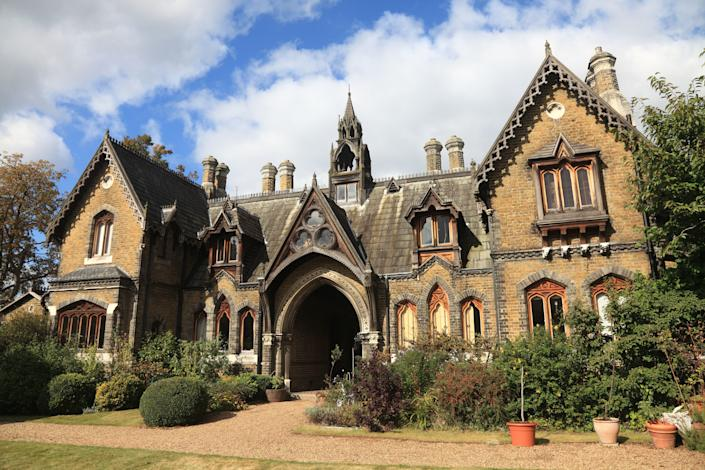 Holly Village, an enchanting gated housing development, is a clear example of Victorian-era Gothic architecture.