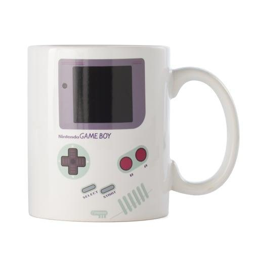<p>He can drink his morning coffee out of this <span>Nintendo Game Boy Color Heat Change Mug</span> ($14, originally $24).</p>