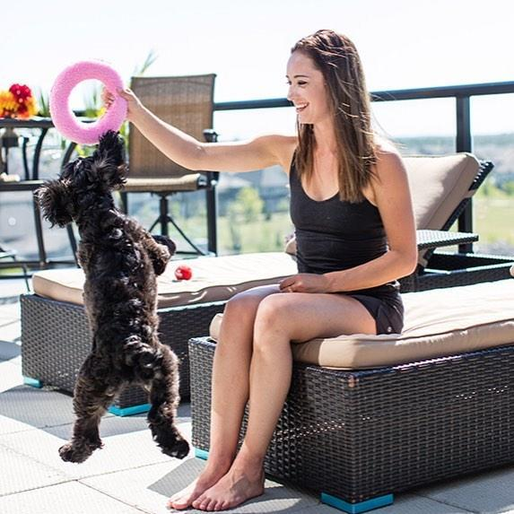 <p>Kaetlyn is an animal lover and says her favorite part of going home after training is seeing her pets. (Photo via Instagram/kaetkiss) </p>