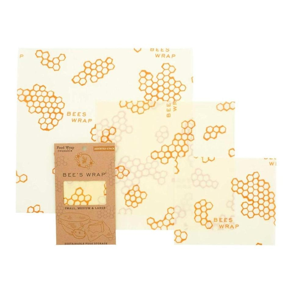 """Likewise, this pack of Bee's Wrap will help them minimize their single plastic waste. $18, Amazon. <a href=""""https://www.amazon.com/Bees-Wrap-Assorted-Sustainable-Alternative/dp/B0126LMDFK"""" rel=""""nofollow noopener"""" target=""""_blank"""" data-ylk=""""slk:Get it now!"""" class=""""link rapid-noclick-resp"""">Get it now!</a>"""
