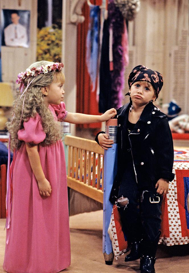 <p>Mary-Kate and Ashley giving audiences a taste of their good and bad sides on 'Full House'. (Photo: Getty Images) </p>