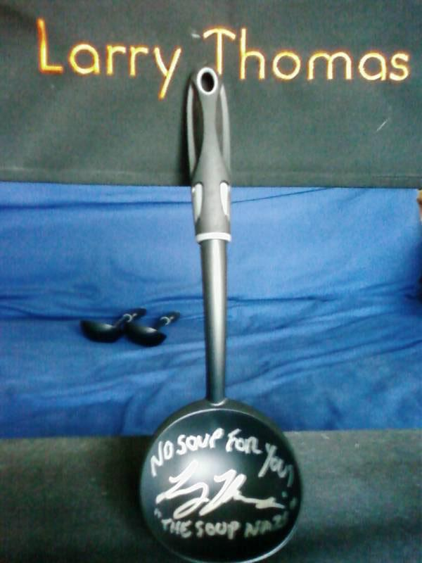 "<b>GENERAL TV-RELATED GOODIES<br><br>A Ladle Signed by the Soup Nazi from ""Seinfeld""</b><br>There will be soup for the ""Seinfeld"" fan on your gift list, and it can be served up using a cool ladle autographed by actor Larry Thomas, the man who brought the Soup Nazi to life. It's a Festivus miracle!<br><br><a href=""http://www.ebay.com/sch/i.html?_nkw=soup+nazi+ladle&_sacat=0&_odkw=ladle&_osacat=0&_from=R40"">eBay.com</a>, $26.30"