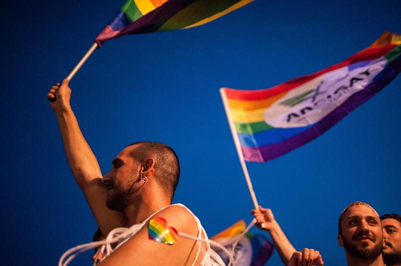 A Pride parade in Salerno, Italy on May 26, 2018. (Photo: Ivan Romano via Getty Images)