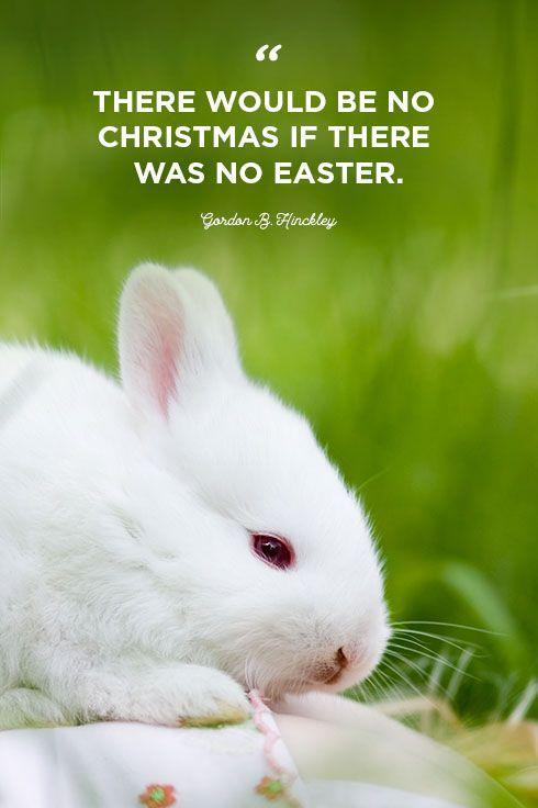 """<p>""""There would be no Christmas if there was no Easter.""""</p>"""