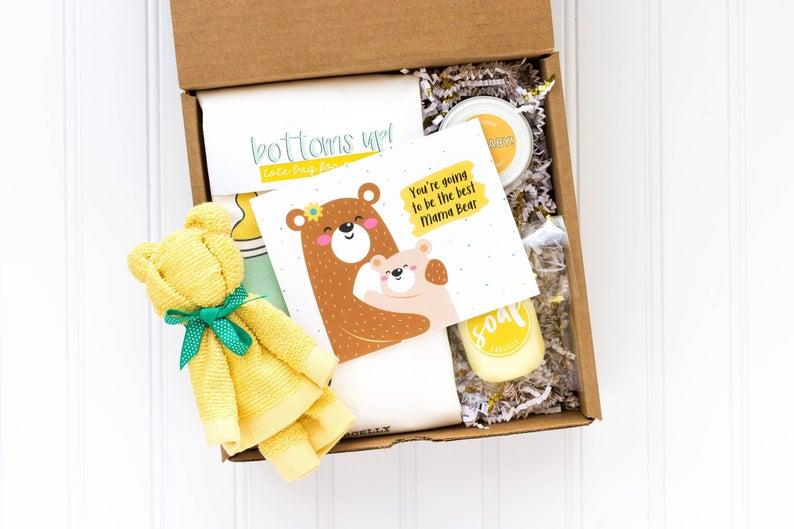 Pregnancy Gift Basket. Image via Etsy.