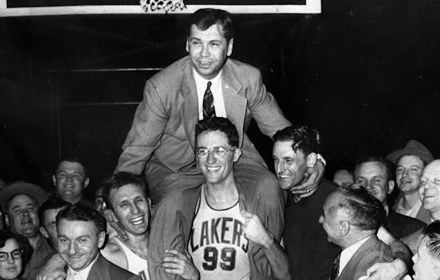 <p>John Kundla (1916-2017): Hall of Fame coach who led the Minneapolis Lakers to five championships. </p>