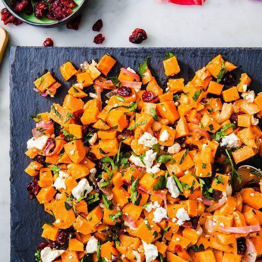 """<p>We love this <a href=""""https://www.delish.com/uk/cooking/recipes/g29830208/healthy-salad-recipes/"""" rel=""""nofollow noopener"""" target=""""_blank"""" data-ylk=""""slk:salad"""" class=""""link rapid-noclick-resp"""">salad</a> warm, straight from the oven. But it's also very good at room temperature one (two or three) days later. You can bulk it up with leafy greens like <a href=""""https://www.delish.com/uk/cooking/a29469948/how-to-cook-spinach/"""" rel=""""nofollow noopener"""" target=""""_blank"""" data-ylk=""""slk:baby spinach"""" class=""""link rapid-noclick-resp"""">baby spinach</a>, put it in a wrap, or even top it with a fried egg. The sweet potato salad is your oyster?</p><p>Get the <a href=""""https://www.delish.com/uk/cooking/recipes/a33559538/sweet-potato-salad-recipe/"""" rel=""""nofollow noopener"""" target=""""_blank"""" data-ylk=""""slk:Sweet Potato Salad"""" class=""""link rapid-noclick-resp"""">Sweet Potato Salad</a> recipe.</p>"""