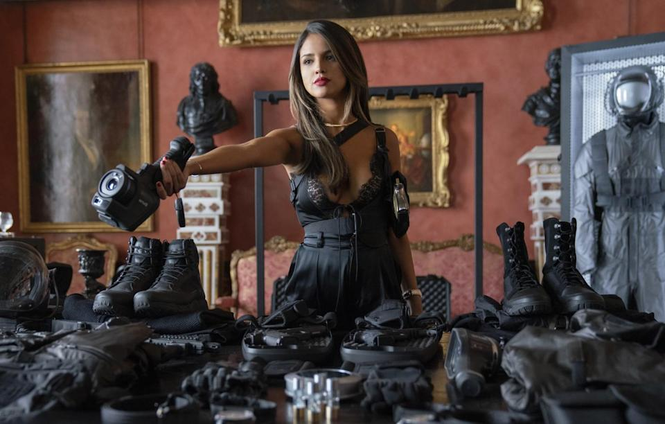 Eiza Gonzalez as Madame M in Fast & Furious Presents: Hobbs & Shaw, directed by David Leitch.