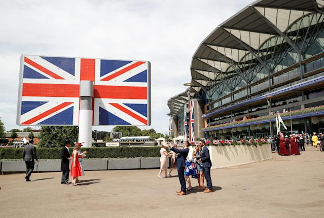 Horse Racing - Royal Ascot - Ascot Racecourse, Ascot, Britain - June 23, 2018 Racegoers at Ascot before the start of the racing Action Images via Reuters/Andrew Boyers
