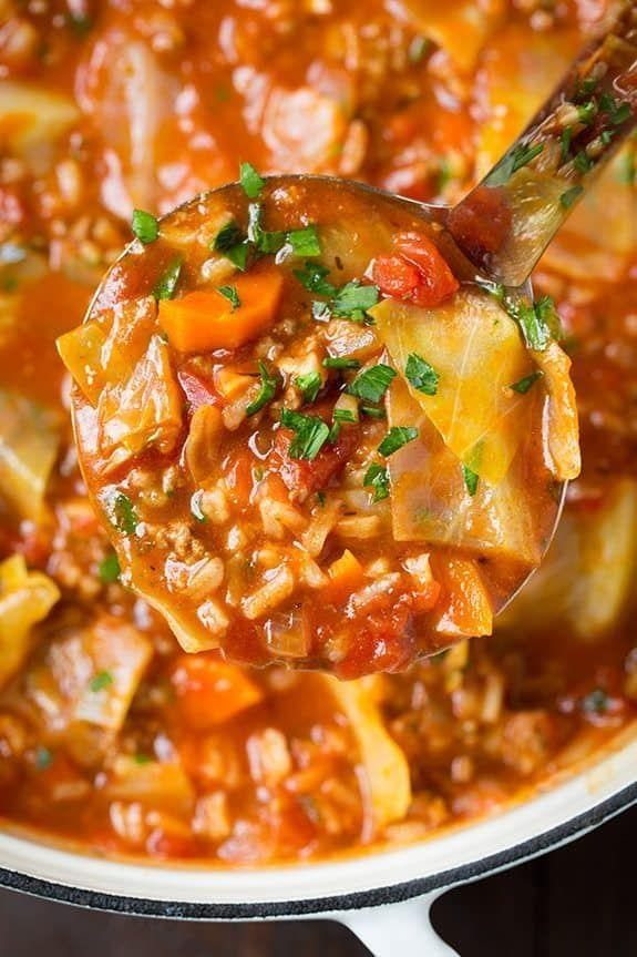 """<p>So much easier than making actual cabbage rolls.</p><p>Get the recipe from <a href=""""https://www.cookingclassy.com/cabbage-roll-soup/"""" rel=""""nofollow noopener"""" target=""""_blank"""" data-ylk=""""slk:Cooking Classy"""" class=""""link rapid-noclick-resp"""">Cooking Classy</a>.</p>"""