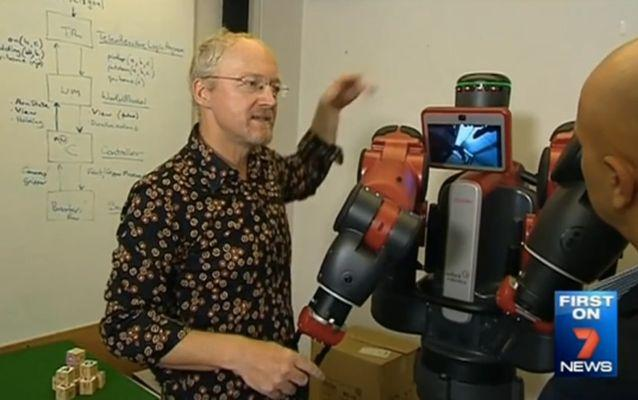 Artificial Intelligence expert Toby Walsh is leading a campaign to ban killer robots from warfare. Source: 7 News.