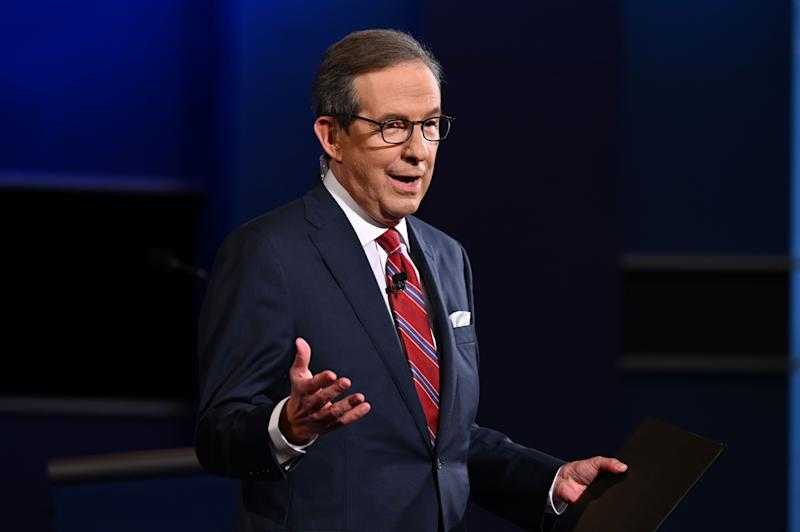 Moderator and Fox News anchor Chris Wallace speaks during the first presidential debate at the Case Western Reserve University and Cleveland Clinic in Cleveland, Ohio on September 29, 2020.