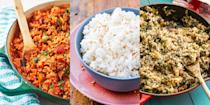 """<p>Rice is that store-cupboard ingredient we all know and love, but probably don't use as much as we could. It makes the best side dishes (you'll love our <a href=""""https://www.delish.com/uk/cooking/recipes/a30119032/chicken-fried-rice-recipe/"""" rel=""""nofollow noopener"""" target=""""_blank"""" data-ylk=""""slk:Chicken Fried Rice"""" class=""""link rapid-noclick-resp"""">Chicken Fried Rice</a>) as well as hearty and delicious main dishes (wait until you see our <a href=""""https://www.delish.com/uk/cooking/recipes/a30960391/mediterranean-shrimp-and-rice-soup-recipe/"""" rel=""""nofollow noopener"""" target=""""_blank"""" data-ylk=""""slk:Mediterranean Prawn & Rice Soup"""" class=""""link rapid-noclick-resp"""">Mediterranean Prawn & Rice Soup</a>), and we're big fans of its versatility. So, if you're on the lookout for some easy rice recipes, check out our favourites now. </p>"""