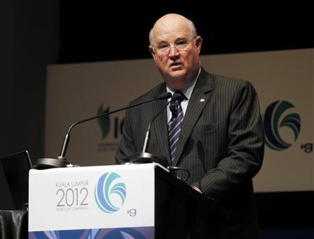 Vice Chairman and Executive Vice President for Upstream & Gas of Chevron Corporation Kirkland speaks during World Gas Conference 2012 in Kuala Lumpur