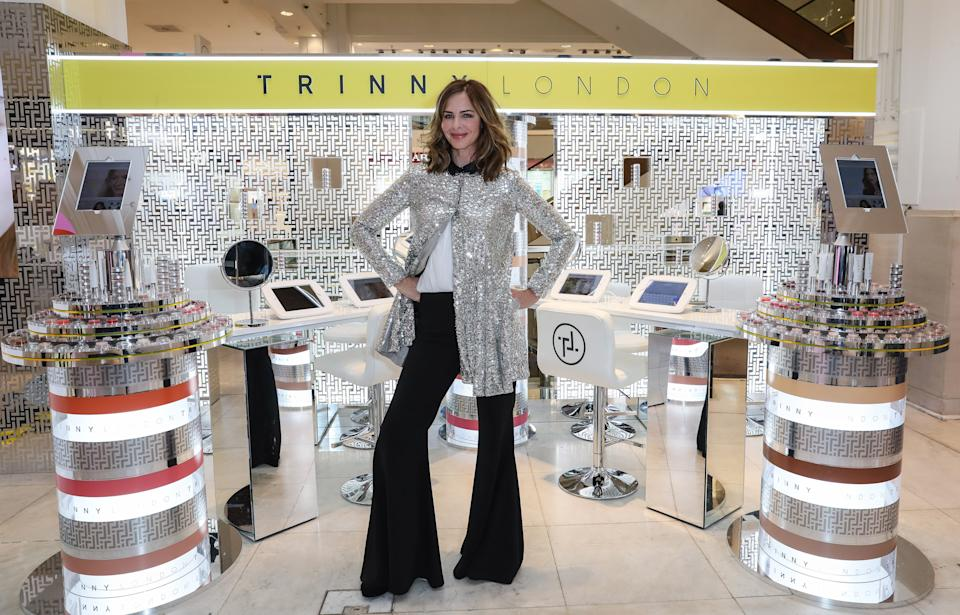Trinny Woodall poses at the launch of the TRINNY London pop-up