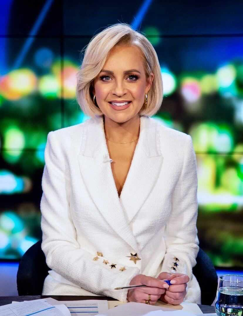Carrie bickmore wearing  ivory Rebecca Vallance blazer on the project