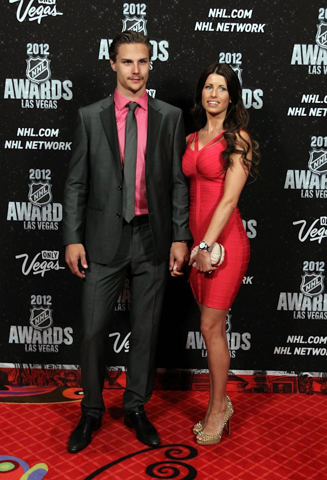 LAS VEGAS, NV - JUNE 20: Erik Karlsson of the Ottawa Senators arrives with guest before the 2012 NHL Awards at the Encore Theater at the Wynn Las Vegas on June 20, 2012 in Las Vegas, Nevada.  (Photo by Bruce Bennett/Getty Images)