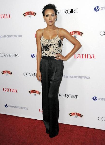 Naya Rivera arrives at the Latina Magazine's Hot Hollywood List event at The Redbury Hotel on Thursday, Oct. 3, 2013 in Los Angeles. (Photo by Richard Shotwell/Invision/AP)