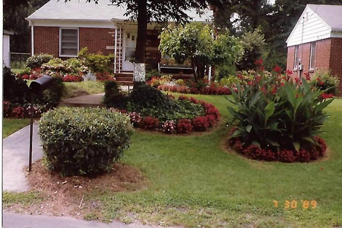 Iris Wallace's father, Sephus Neal, kept their yard at 2417 Jefferson Davis Street pruned and flowered.