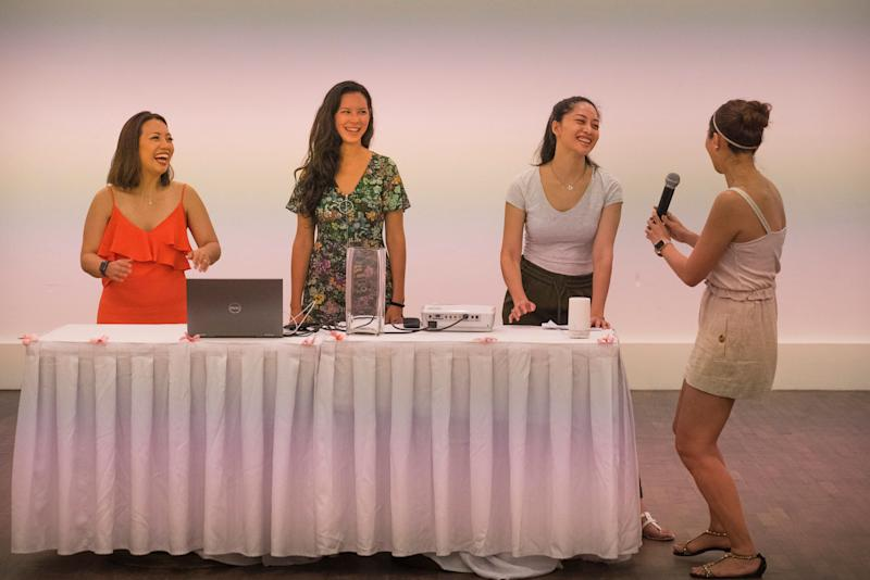 (L to R): Rachael Kwacz, Hannah Lo, Sarah Lian and Dian Lee. (PHOTO: Suppagood)