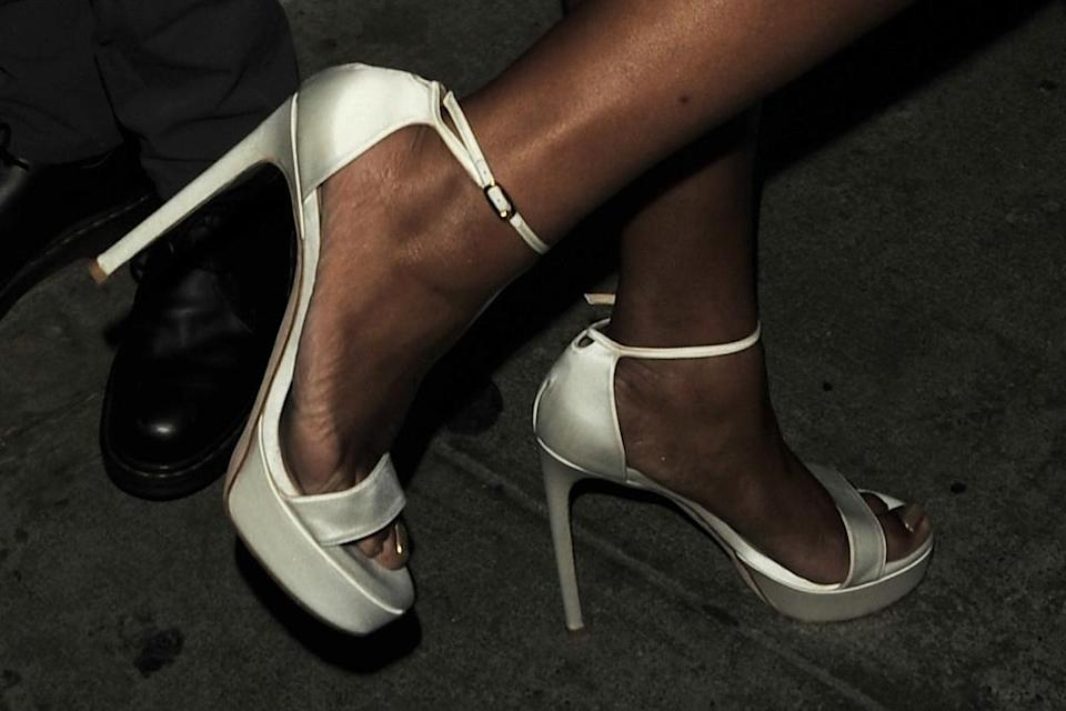 A closer view of Lizzo's platform heels. - Credit: twoeyephotos/MEGA