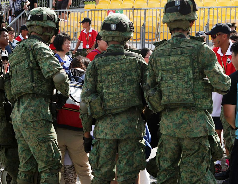 File photo of National Servicemen (NSF): Yahoo News Singapore