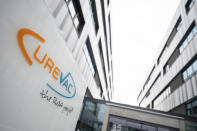 FILE- This Jan. 7, 2021, file photo, shows the Curevac company headquarters in Tuebingen, Germany. German vaccine maker CureVac said Wednesday, June 16, 2021, that interim data from late-stage testing of its coronavirus shot show a comparatively low effectiveness in protecting people against COVID-19. (Sebastian Gollnow/dpa via AP, File)