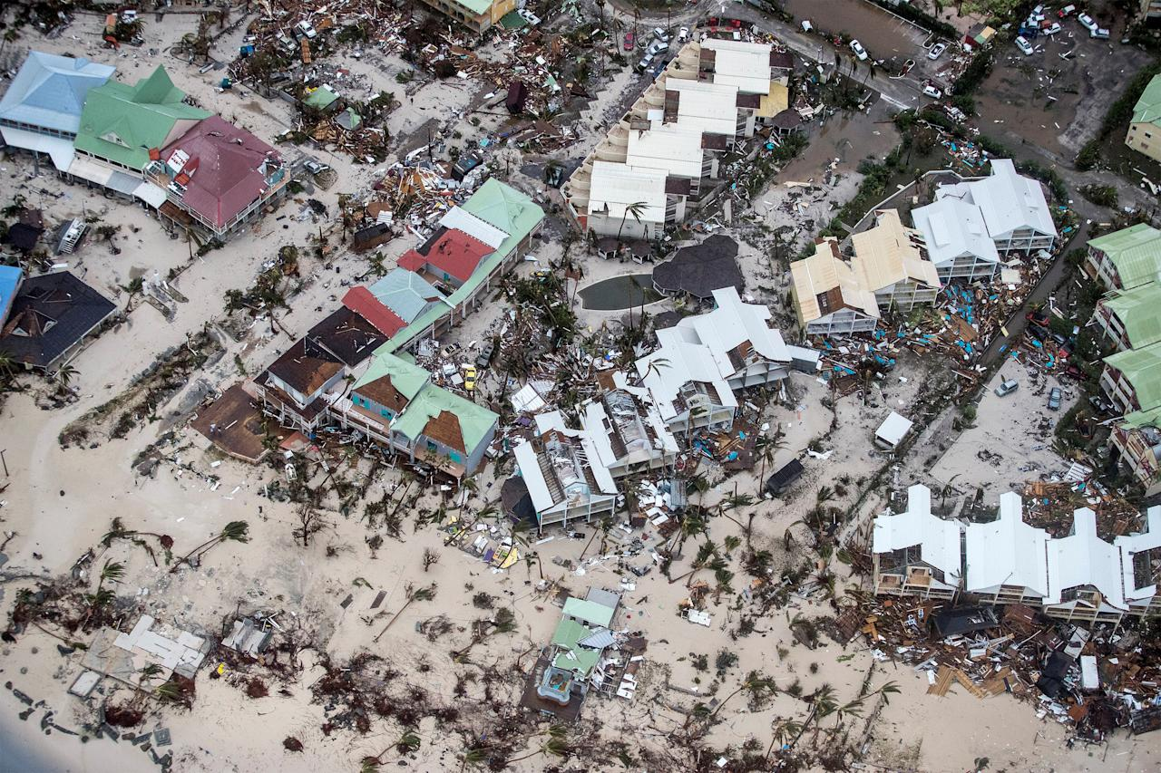 <p>View of the aftermath of Hurricane Irma on St. Maarten Dutch part of Saint Martin island in the Caribbean, Sept. 6, 2017. (Photo: Netherlands Ministry of Defence/Handout via Reuters) </p>