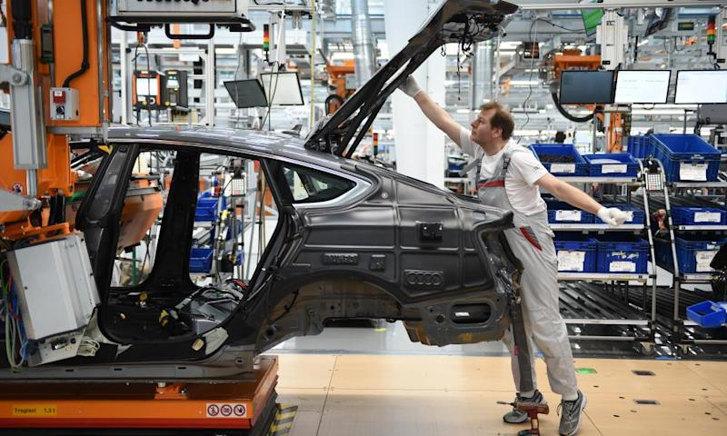 An Audi production line in Ingolstadt, Germany
