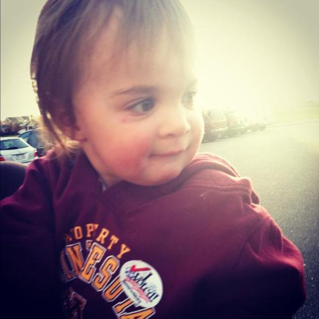 "We voted early in CO on Monday, and baby was so excited (""Vote! Vote!"") that she got her own sticker. - @katesti, via Twitter"