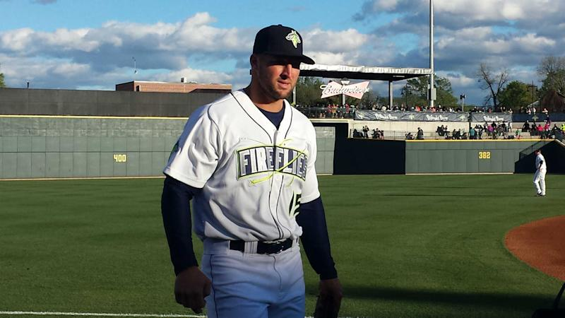 Tim Tebow blasts another homer Sunday, this is not a drill