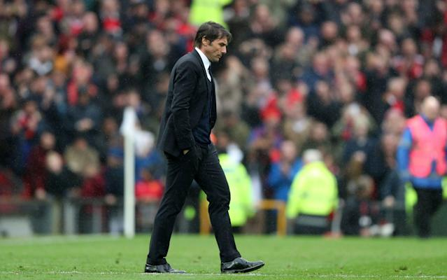 <span>Conte took the blame for Sunday's defeat</span> <span>Credit: Rex </span>