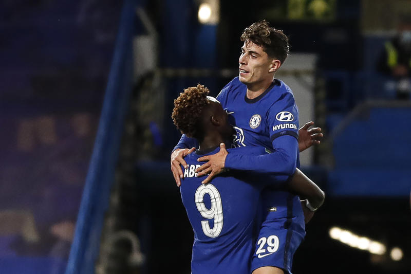 Tammy Abraham and Kai Havertz (right) both nettedAFP via Getty Images