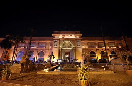 General view of the Egyptian Museum in Tahrir Square in downtown Cairo