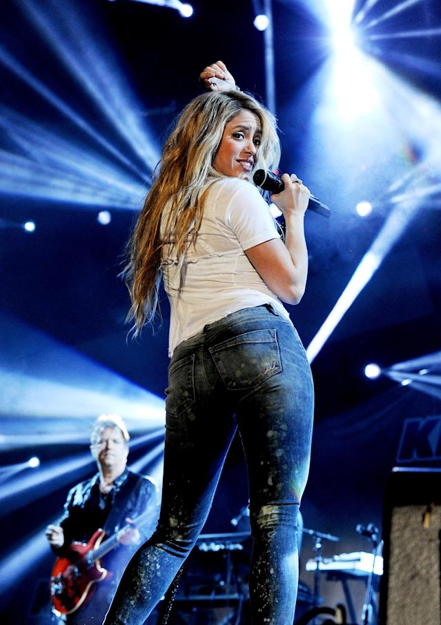 LOS ANGELES, CA - MAY 10: Singer Shakira performs onstage during 102.7 KIIS FM's Wango Tango at StubHub Center on May 10, 2014 in Los Angeles, California. (Photo by Kevin Winter/Getty Images For 102.7 KIIS FM's Wango Tango)