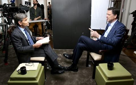 Mr Comey spoke to ABC's George Stephanopoulos - Credit: ABC News/Getty Images