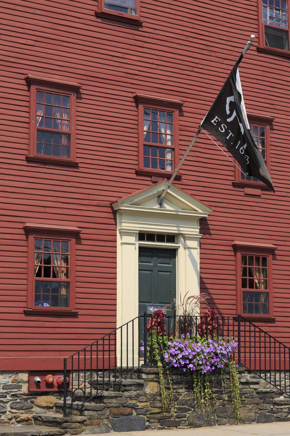 """<p><a href=""""https://whitehorsenewport.com/"""" rel=""""nofollow noopener"""" target=""""_blank"""" data-ylk=""""slk:The White Horse Tavern"""" class=""""link rapid-noclick-resp"""">The White Horse Tavern</a> in Newport, Rhode Island has been a popular spot to grab an ale since 1673, making it the <a href=""""http://www.thecoolist.com/10-of-the-oldest-most-historic-bars-in-the-usa/"""" rel=""""nofollow noopener"""" target=""""_blank"""" data-ylk=""""slk:oldest tavern in America"""" class=""""link rapid-noclick-resp"""">oldest tavern in America</a>. At nearly 350 years old, the restaurant is still up and running today! </p>"""