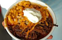 """<p>If it has Texas in the title, you know it's going to be different. This Texas chili recipe is made with no beans, which is one of the weirdest <a href=""""https://www.thedailymeal.com/eat/weird-food-facts?referrer=yahoo&category=beauty_food&include_utm=1&utm_medium=referral&utm_source=yahoo&utm_campaign=feed"""" rel=""""nofollow noopener"""" target=""""_blank"""" data-ylk=""""slk:fun food facts about Texas"""" class=""""link rapid-noclick-resp"""">fun food facts about Texas</a>. </p> <p><a href=""""https://www.thedailymeal.com/recipes/texas-no-bean-chili?referrer=yahoo&category=beauty_food&include_utm=1&utm_medium=referral&utm_source=yahoo&utm_campaign=feed"""" rel=""""nofollow noopener"""" target=""""_blank"""" data-ylk=""""slk:For the Texas No-Bean Chili recipe, click here"""" class=""""link rapid-noclick-resp"""">For the Texas No-Bean Chili recipe, click here</a>.</p>"""
