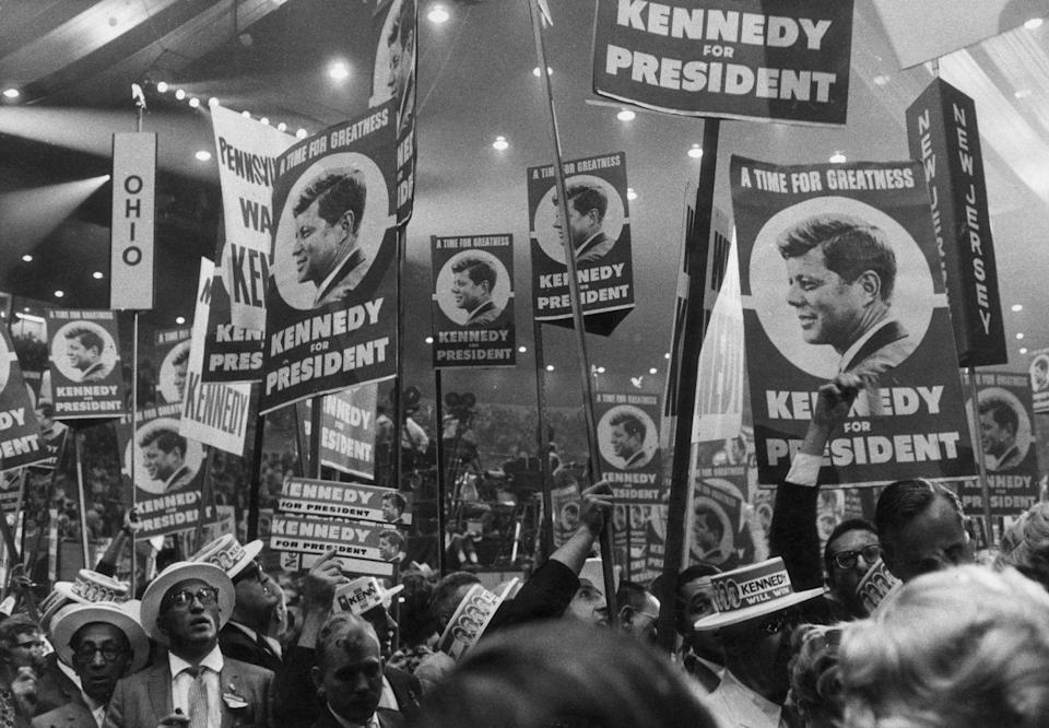 """<p>When John Kennedy was preparing for reelection, he evaluated his potential opponents. Among them was George Romney, a Republican who challenged Kennedy's confidence in his campaign. """"That guy can be tough,"""" Kennedy <a href=""""http://www.history.com/news/history-lists/10-things-you-may-not-know-about-john-f-kennedy"""" rel=""""nofollow noopener"""" target=""""_blank"""" data-ylk=""""slk:said"""" class=""""link rapid-noclick-resp"""">said</a> in a 1963 conference. </p>"""