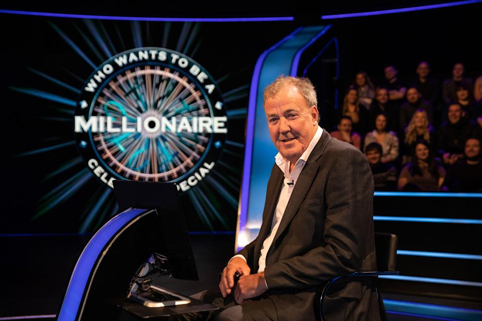 Jeremy Clarkson hosting Who Wants To Be A Millionaire? on ITV (Stellify Media)