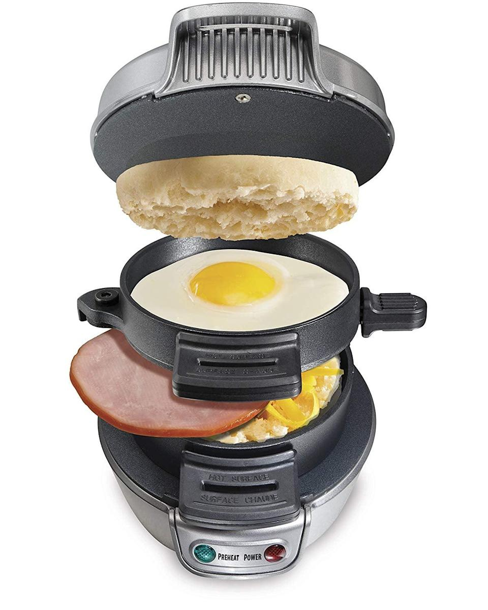 <p>Make breakfast the best meal of the day with this <span>Breakfast Sandwich Maker</span> ($24).</p>