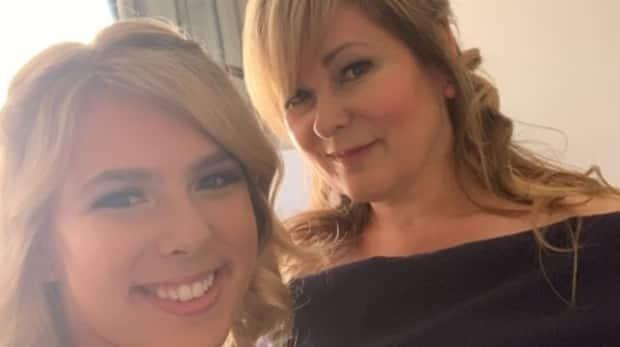 Lisa Stonehouse, right, seen in a photo with her daughter Jordan. Lisa Stonehouse died Saturday, 10 days after receiving a dose of the AstraZeneca vaccine.  (Wilfred Lowenberg/GoFundme - image credit)