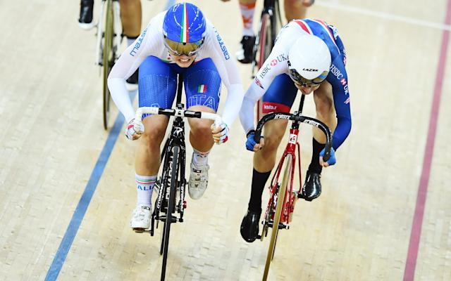 <span>Barbieri (left) managed to beat Barker to claim her first world title</span> <span>Credit: REX FEATURES </span>