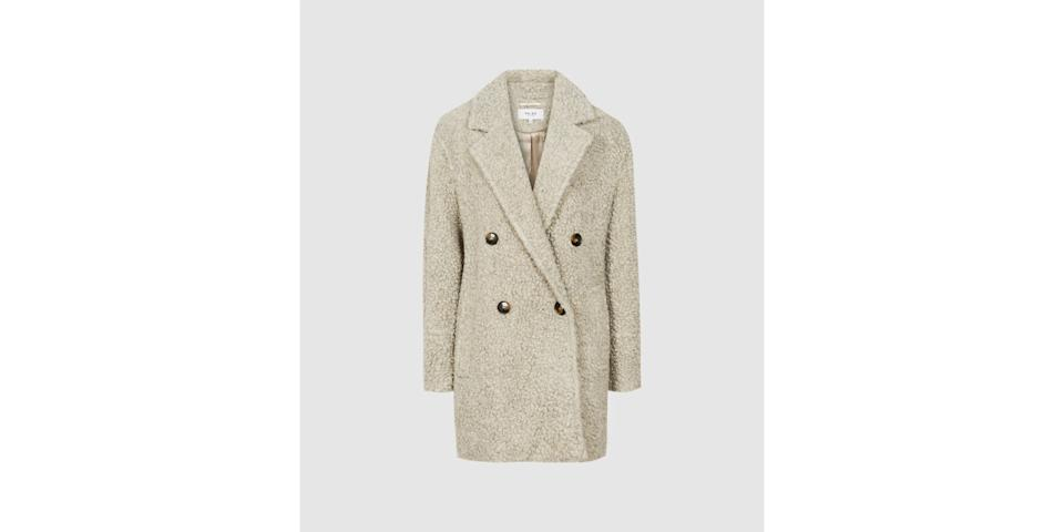 best winter coats: Reiss Sky Wool Blend Teddy Coat