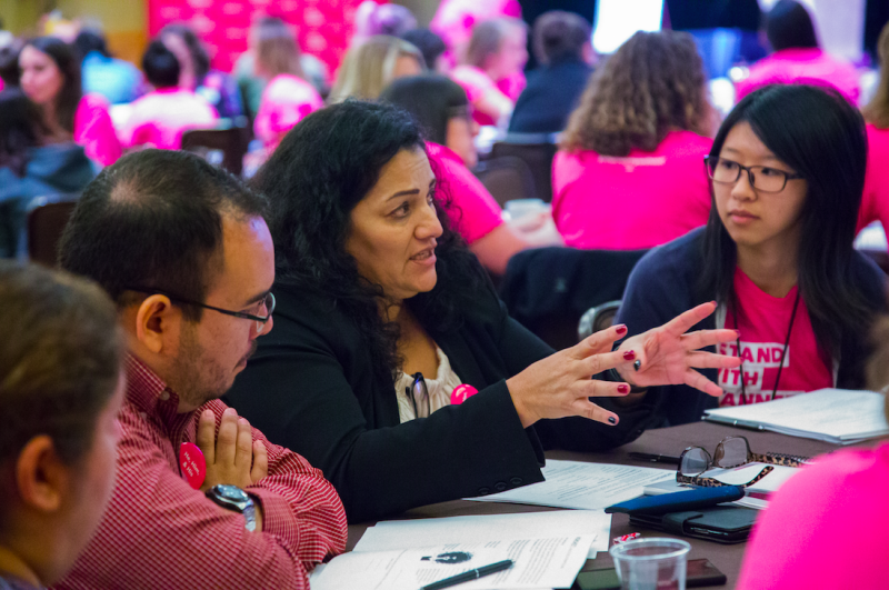 Planned Parenthood organizers and volunteers gather in Bellevue, Wash., Sept 23, 2017. (Courtesy of Planned Parenthood)